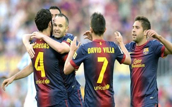 مصر اليوم - برشلونة الإسباني  يفوز على ملقا بشق الأنفس بهدف أدريانو كوريا