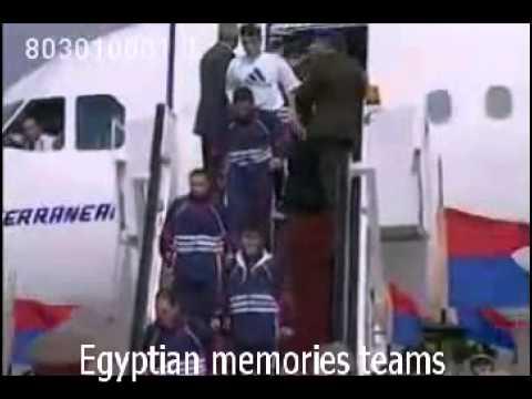 بالفيديو استقبال تاريخي لمنتخب مصر بعد الفوز في كأس أفريقيا 1998