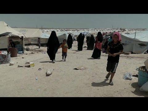 شاهد فنلنديات داعش يُعانين ظروفًا قاسية داخل مخيم الحول السوري